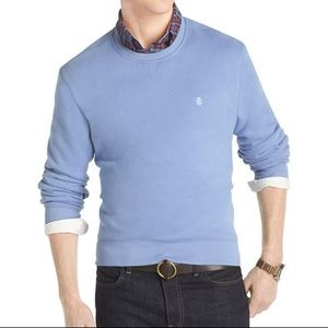 Izod Mens Long Sleeve Sueded Fleece Sweatshirt